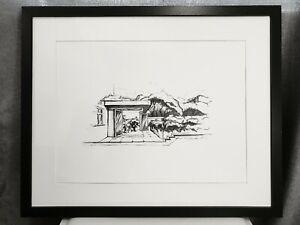 Original Ink Architectural Drawing