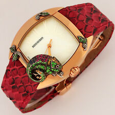 Boucheron 18K Rose Gold MEC Jungle Ltd Ed 6pcs Chameleon Jewelry Watch Automatic