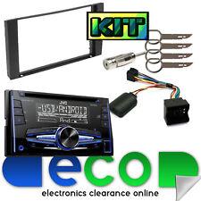Ford Focus MK2 2005-2007 JVC Double Din CD MP3 USB Car Stereo & BLACK Fascia Kit