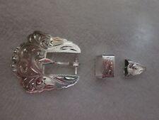 "German Silver  3-piece Buckle Set -- for 1/2"" strap (#504)"