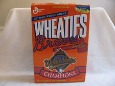 Wheaties Atlanta Braves 1995 World Series Champions Cereal Box