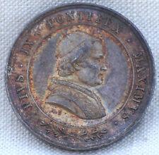 Pius IX Pontifex Maximus 1848 Causa Nostrae Laetitiae Sterling Silver Medal