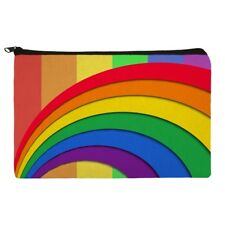 Double Rainbow Pride Arc Pencil Pen Organizer Zipper Pouch Case