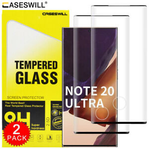 For Samsung Galaxy S21 S20 Plus Note 20 Ultra Tempered Glass Screen Protector X2