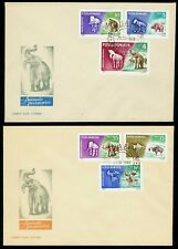 1966 Mammoth,Prehistoric animals,Cave bear,Steppe Wisent,Romania,Mi.2553,FDC