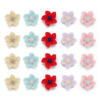 50pcs Assorted Flower Resin Flatback Cameo Cabochons Decor Jewelry Accessories