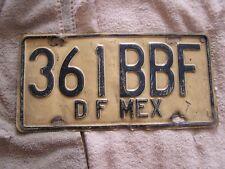 Vintage DF Mexico Federal Plate