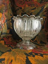bel ancien vase ou coupe en cristal moulé epoque 1940  gouttes d eau