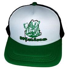 Maine Moose  Snapback Mesh Trucker Hat Cap  Green Black