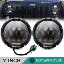 "For Toyota FJ Cruiser 07-14 7"" LED Halo Angel Eyes Headlight H4-H13 DRL Pair"
