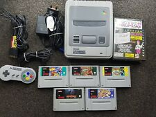 SNES Console with games