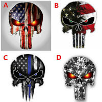 Punisher Skull Car Vinyl Decal Stickers USA Flag Graphics For Truck Police Jeep