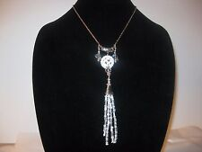 SMDS RESORT ACCESSORIES COLLECTION LONG SEEDED TASSEL NECKLACE BOXED NWT!