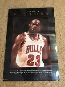 Rare Michael Jordan Victory 1996 Vintage Chicago Bulls Full Size Poster 24 x 36