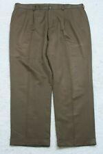 Van Heusen Dress Pants Brown 42 Waist 32 Inseam Pleated Polyester XXL 2X Mans P5