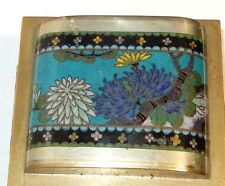 OLD CHINESE CLOISONNE ENAMEL FLOWER DOME SHAPE HUMIDOR JAR BOX