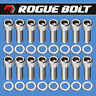 """FORD HEADER BOLTS 1"""" STAINLESS KIT SMALL BIG BLOCK SBF 289 302 351W 351C 5.0L"""