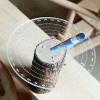 AU_ Round Wood Measuring Tool Center Locate Draw Circle Turning Centering Ruler