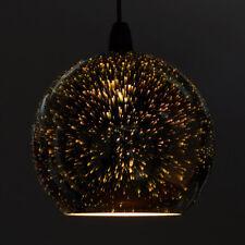 Zodiac Firework Effect Silver Ball Chrome Glass Ceiling Pendant Light Shade