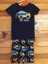 *NWT GYMBOREE* Boys Dirt Magnet Dumptruck Shortie 2 Piece Gymmies Pajamas 18-24M