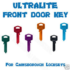 HOUSE KEYS COLORED ULTRALITE FOR Gainsborough, SILCA TE2 UNCUT FRONT DOOR KEY