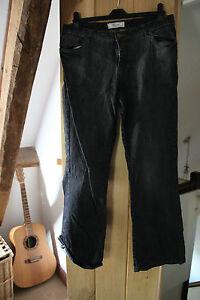 bootcut  stretch grey / black jeans ladies  Size 14