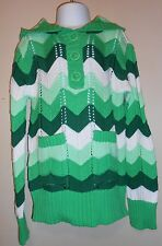 The Childrens Place Girls Hooded Sweater Green M/7-8 NWT