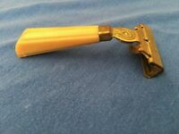 Vintage EVERSHARP Schick Brass Safety Razor Bakelite Handle Injector Made in USA