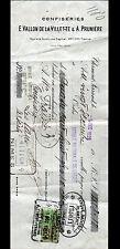"""CLERMONT-FERRAND (63) CONFISERIE """"E. VALLON DE LA VILLETTE & A. PRUNIERE"""" en1925"""