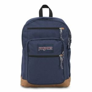 """Jansport Cool Student Backpack Navy Heather Padded 15"""" Laptop Compartment"""