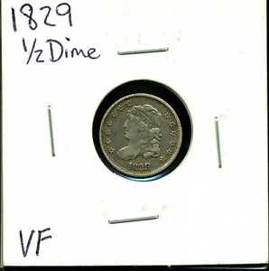 1829 H10C Capped Bust Half Dime in VF Condition #03166