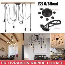 2M E27 Industriel Vintage Rétro Lampe Fixture Plafonnier Suspendu Abat-jour FR