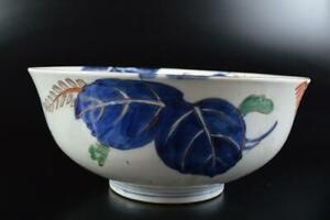 L5599: Japanese Old Imari-ware Gold paint Flower Kashiki DESSERT BOWL/dish
