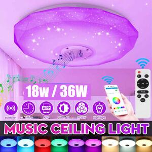 RGB LED Deckenlampe 36W Bluetooth Musik Lautsprecher Dimmbar App  Fernbedienung