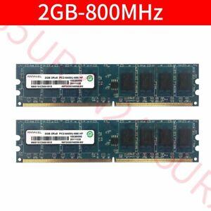 4GB 4G 2x 2GB PC2-6400U DDR2 800MHz 240Pin DIMM intel Desktop Memory RAM Ramaxel