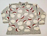 Vintage Orvis Christmas Sweater Womens XL Santa Clause