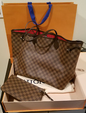 NEW Louis Vuitton Neverfull GM N41357 Damier Ebene Canvas - Red