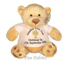 "Personalised Teddy Bear Christening Baptism Holy Communion Dedication 15"" Gift"