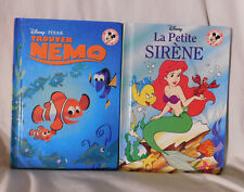 2 French Disney Picture Books HC: Finding Trouver Nemo & Little Mermaid Sirene