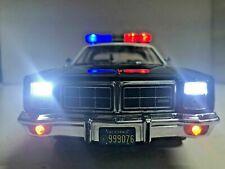 """The Terminator"" 1977 Dodge Monaco LAPD Los Angeles Police WORKING LIGHTS 1/18"