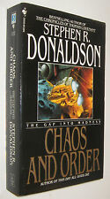 THE GAP INTO CONFLICT - CHAOS AND ORDER - STEPHEN R. DONALDSON - EN INGLES