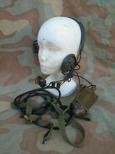 Radio militare cuffia H-63/U  headset  kit completo microfono scatola pettorale