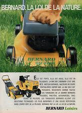 Publicité 1986  BERNARD Loisirs La BM 326 C  Tondeuse Tracteur de pelouse