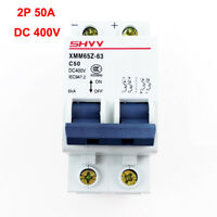 50A Electric Miniature 2P DC 400V Circuit Breaker PV Solar Energy Air Switch MCB