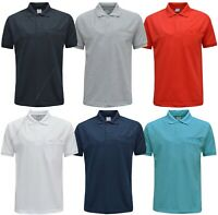 Men Short Sleeve Polo Shirt Plain Top Casual Cotton Mix with Welt Pocket M - XXL