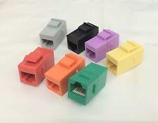 7-PACK CAT6 Female/Female RJ45 Ethernet Multi Keystone Jack Coupler - 7 Colors