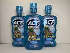 3Act Kids Fluoride Rinse, Pineapple Punch Flavor, Zero Alcohol, 16.9 oz. Ea