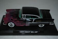 Motor Max 1:24 Chevrolet Bel Air Hot Rod -Black + Flames 76602K.