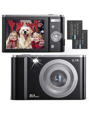 Digital Camera 2.7K Ultra HD 44MP Vlogging Camera with 16X Digital Zoom