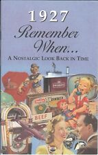 91st Birthday Remember When Book 1927